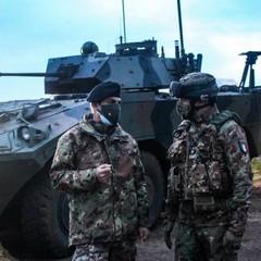 Comandante Brigata Pinerolo con Comandante di Battaglione dell Torino