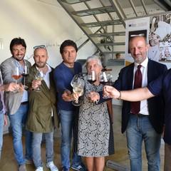 da sinistra Gianluca Spagnolo Roberto Strippoli Stafano DOnghia Antonio Di Nunno Vittoria Cisonno Beppe Schino Pietro Zito JPG