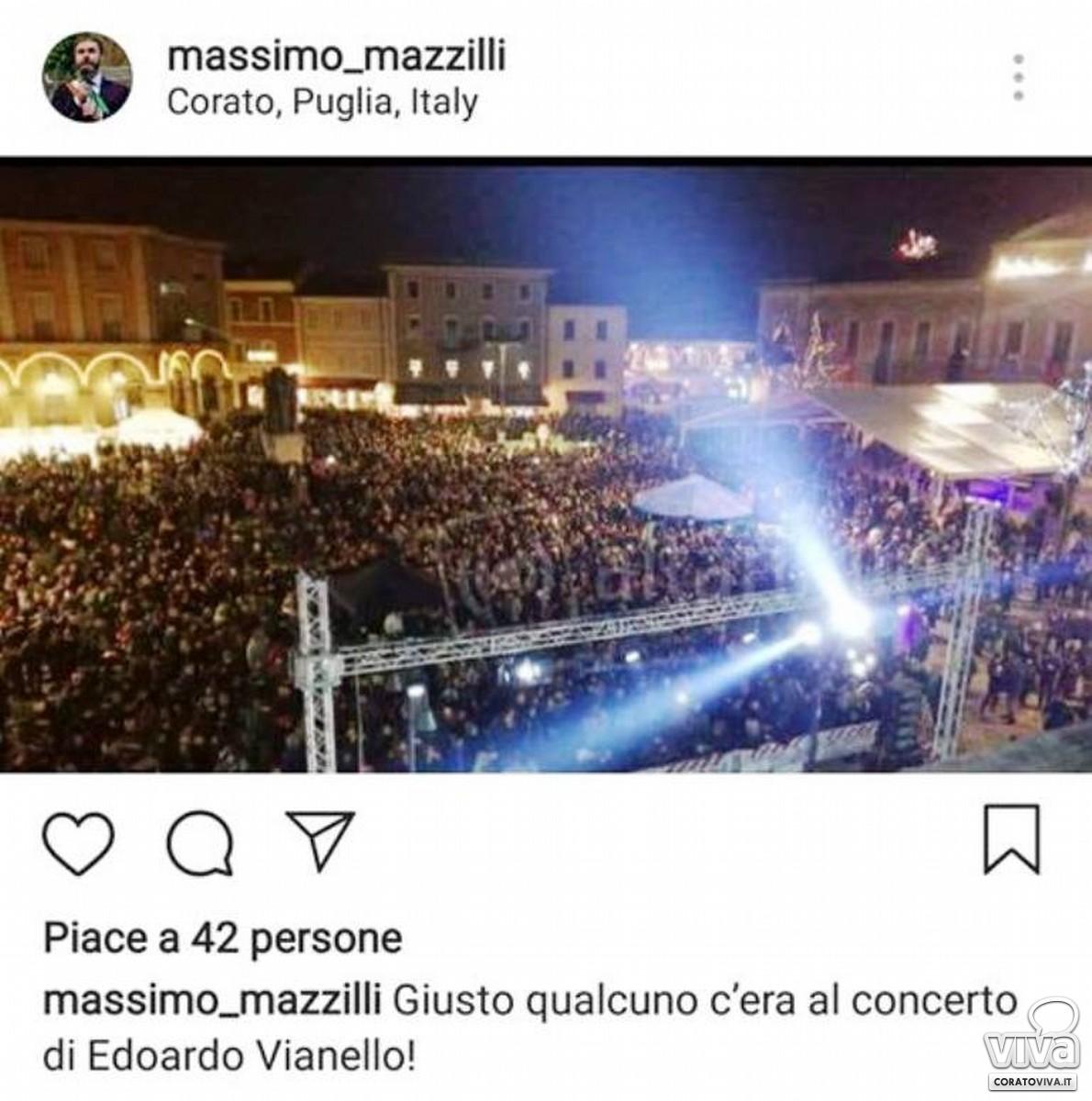 Il post del sindaco Mazzilli