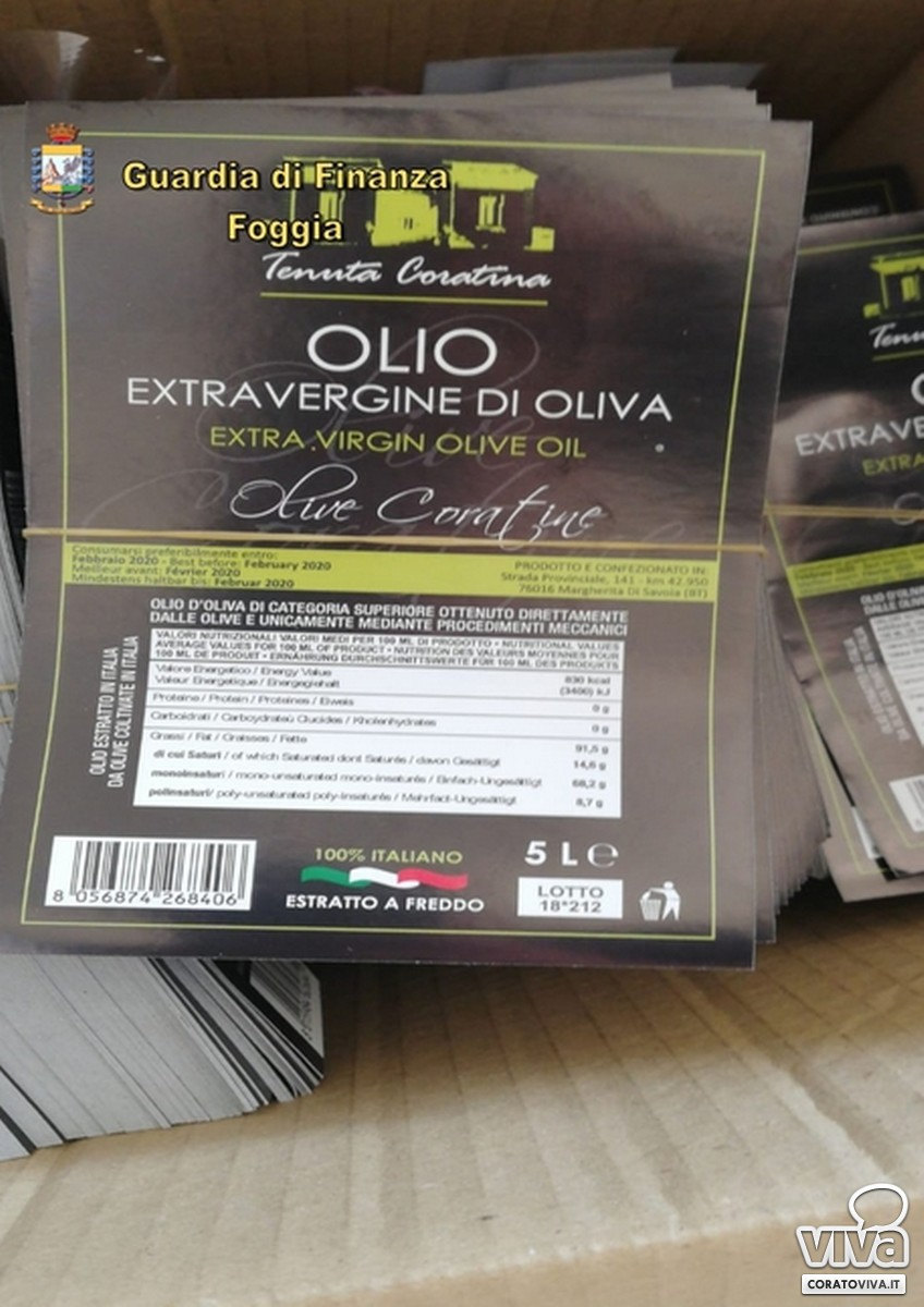 sequestro olio