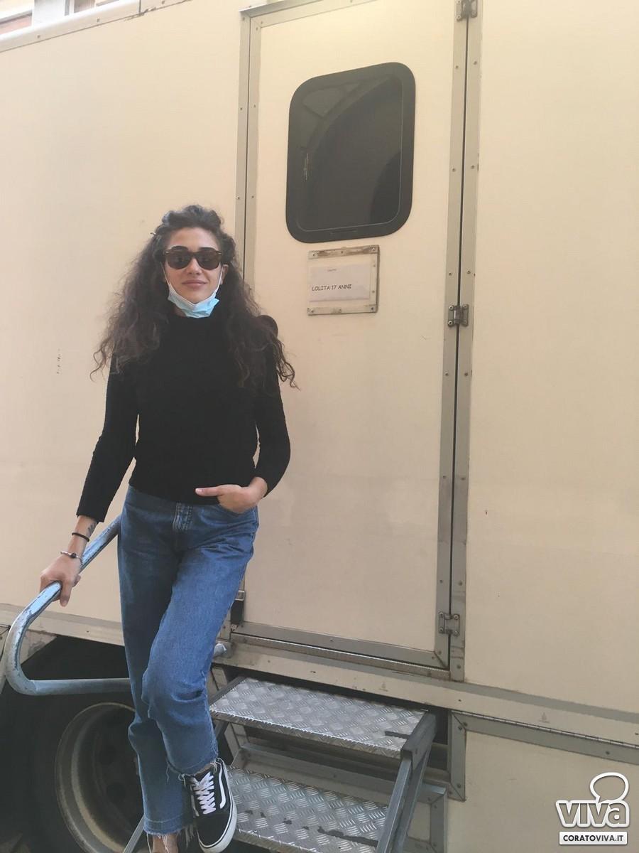 """Nicoletta Di Bisceglie sul set di """"Le indagini di Lolita Lobosco"""""""
