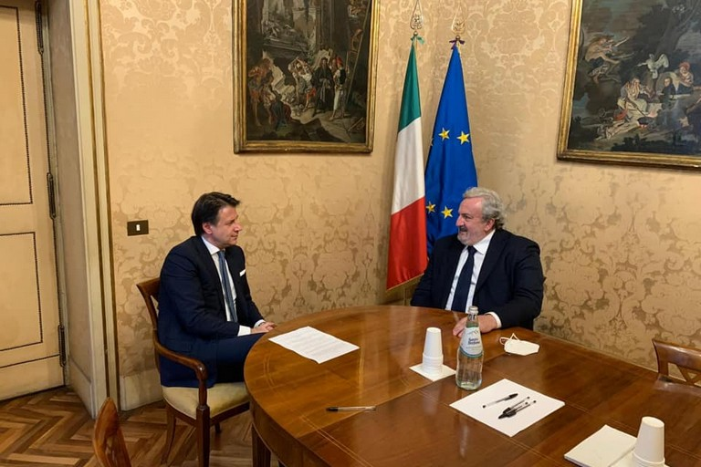 Giuseppe Conte e Michele Emiliano
