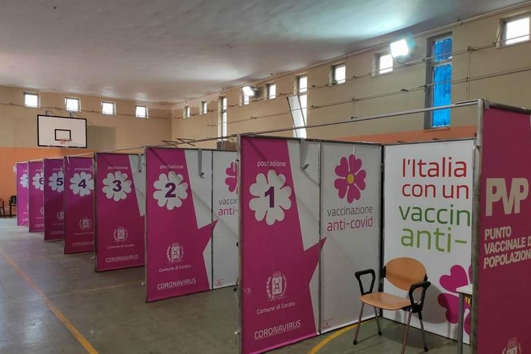 Centro vaccinale a Corato