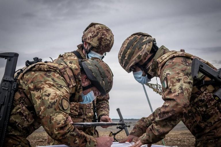 Esercitazione militare a Torre di Nebbia