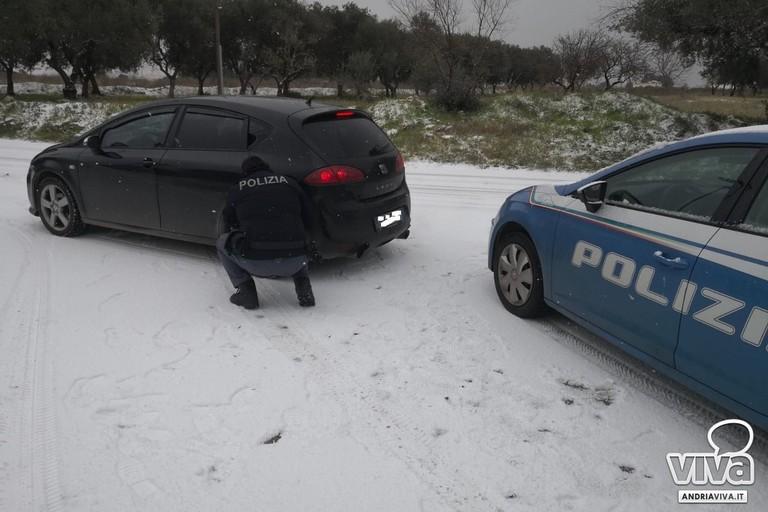 Numerosi automobilisti soccorsi dalle Volanti della P.S. di Andria