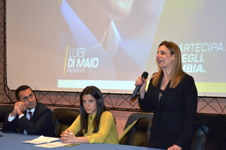 Angela Bruna Piarulli con Luigi Di Maio