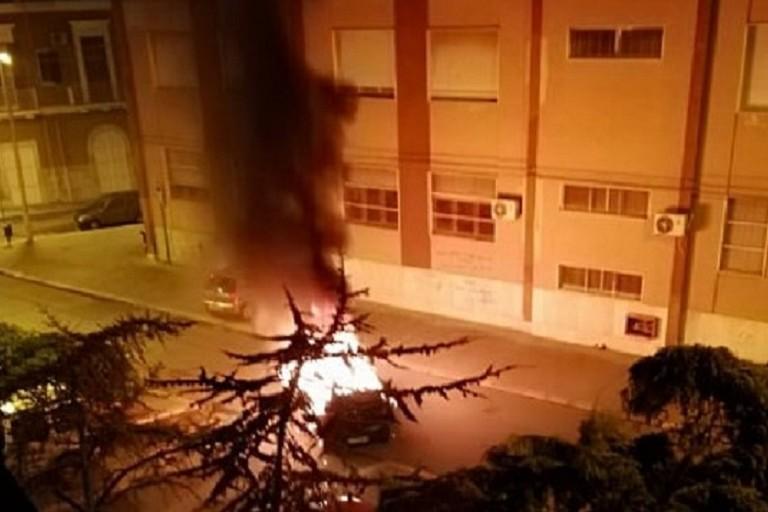 Incendio automobile