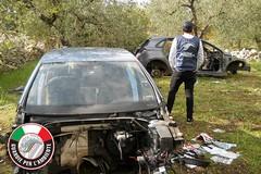 Auto cannibalizzate rinvenute in contrada Femmina Morta