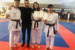 Tre nuove cinture nere per il Karate coratino
