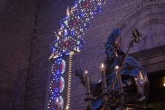 Il busto argenteo di San Cataldo in processione secondo una antica tradizione
