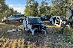 Carcasse di auto ritrovate nelle campagne tra Corato e Andria