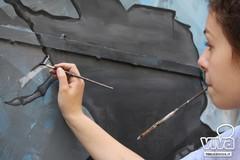 Gli studenti del Liceo Artistico abbelliscono il centro storico di Terlizzi. LE FOTO