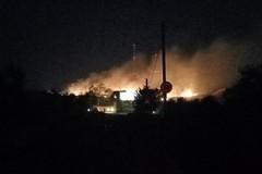 Vasto incendio in contrada Murgetta, pompieri a lavoro
