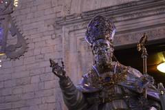 L'emozione di San Cataldo e le immagini della processione del busto argenteo