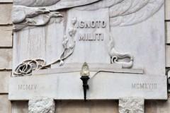 25 aprile 2020 a Corato, corona d'alloro al Milite Ignoto ma senza corteo