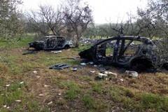 Auto cannibalizzate e incendiate ritrovate tra Corato e Andria