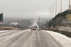 Neve, problemi di viabilità sulla Corato - Bisceglie