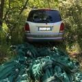 Elicottero della Polizia scopre auto rubate a ridosso del castello
