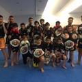 Gli atleti del Team Energym alla finale dei campionati assoluti di kick boxing WKF