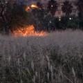 Incendio nei pressi di Via Della Macina