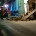 Crolla fabbricato in via Trieste