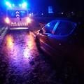 Incidente sulla sp231, auto fuori strada