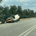 Terribile incidente sulla Corato - Trani, traffico rallentato