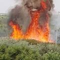 Scoppia un incendio in via Mangilli, fiamme lambiscono la sede della SANB