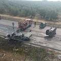 Grave incidente sulla Corato - Trani, auto in fiamme. VIDEO