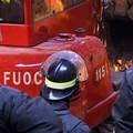 In fiamme un container in viale Friuli