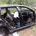 Auto cannibalizzata ritrovata nelle campagne di Corato