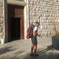 Il viaggio a piedi di Patrick verso la Terrasanta passa da Corato