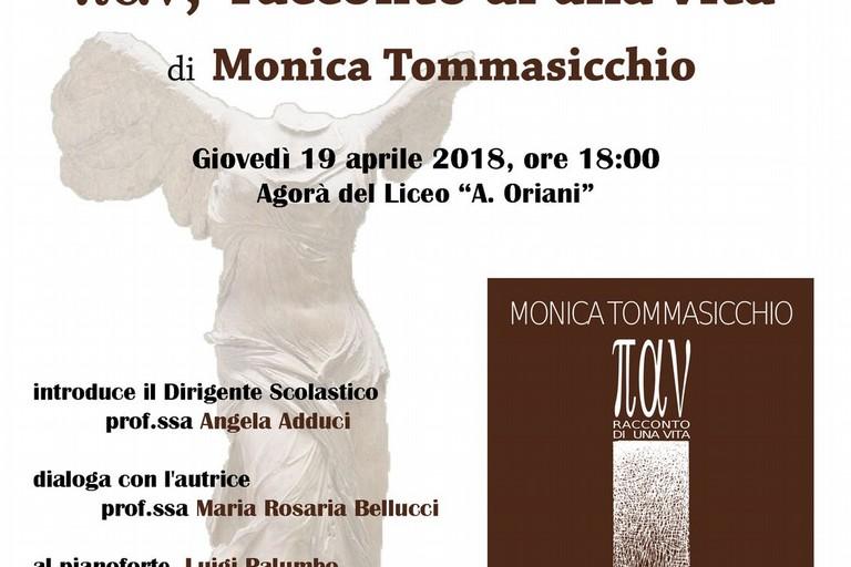 """Monica Tommasicchio presenta il suo nuovo libro """"παv, racconto di una vita"""""""