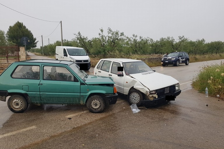 Le due auto incidentate