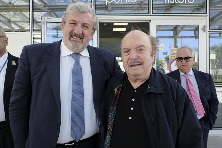 Michele Emiliano e Lino Banfi