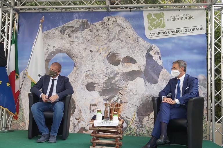 Il presidente Tarantini e il Ministro Costa