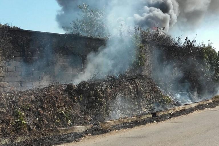 A fuoco il deposito Asipu
