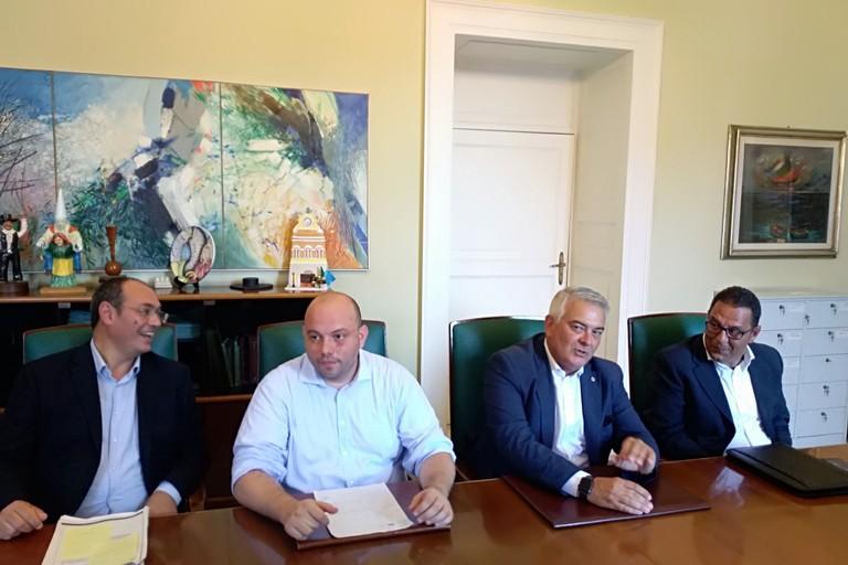 Longo, Lenoci, Bovino e Michele Bovino. <span>Foto Luciana Cusanno</span>