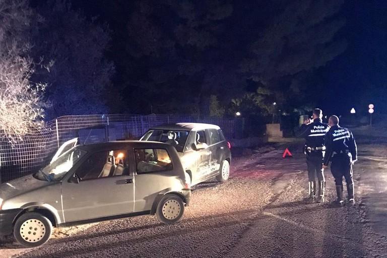 Incidente ad Andria con auto rubata