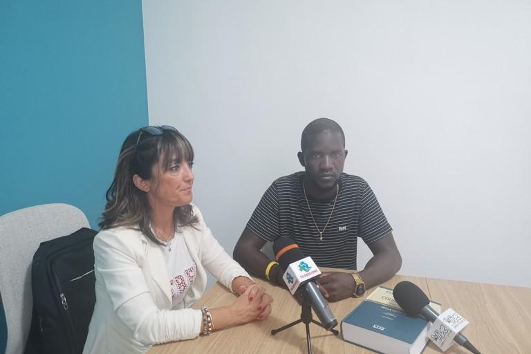 Ibrahima Mane e Tiziana Tandoi