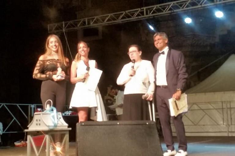 L'artista coratina Apollonia Saragaglia premiata ed espone al Maschio Angioino. <span>Foto Luciana Cusanno</span>