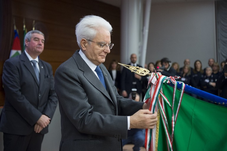 Sergio Mattarella - Protezione Civile