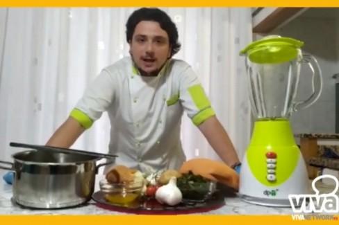 La crema di pane e cicoria di Domenico Marcone