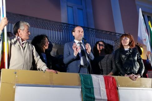 De Benedittis torna in piazza per il primo comizio post covid