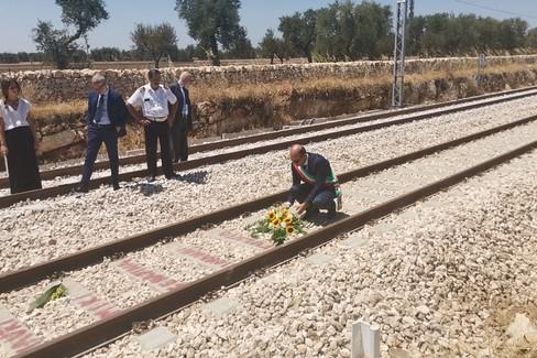 Il sindaco De Benedittis ricorda le vittime della strage dei treni