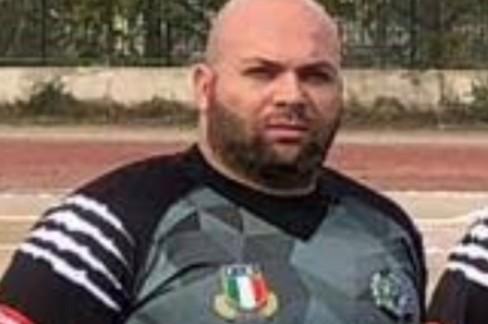 Enzo Mascoli pilone della squadra seniores.