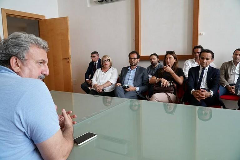 Michele Emiliano incontra il Sindaco Gemmato