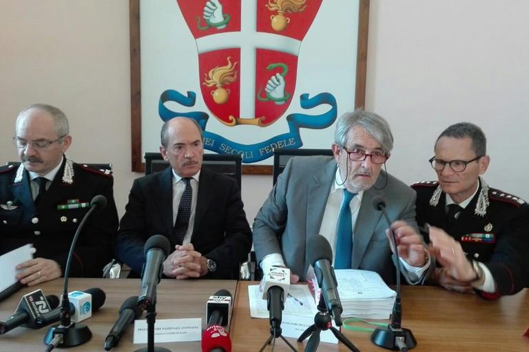 La conferenza stampa sull'operazione PANDORA