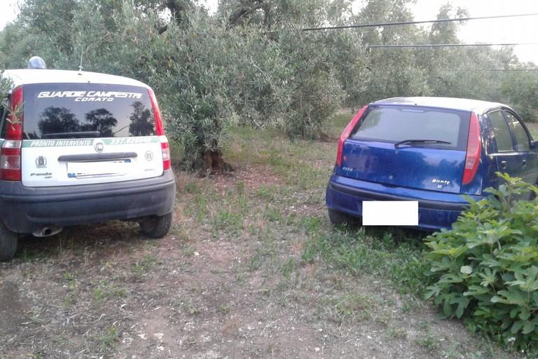Auto rubata rinvenuta in via Lama di Grazia