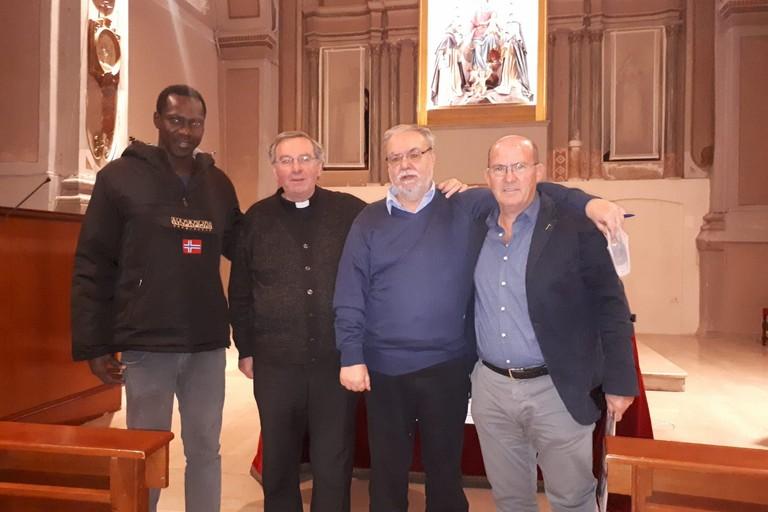 Don Riccardo Agresti con don Gino Tarantini, Franco Tempesta e Saku